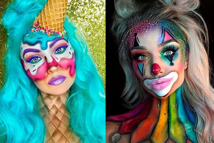 09aab309a de 5 ideas de maquillaje de carnaval